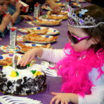 The little princess enjoying her party!