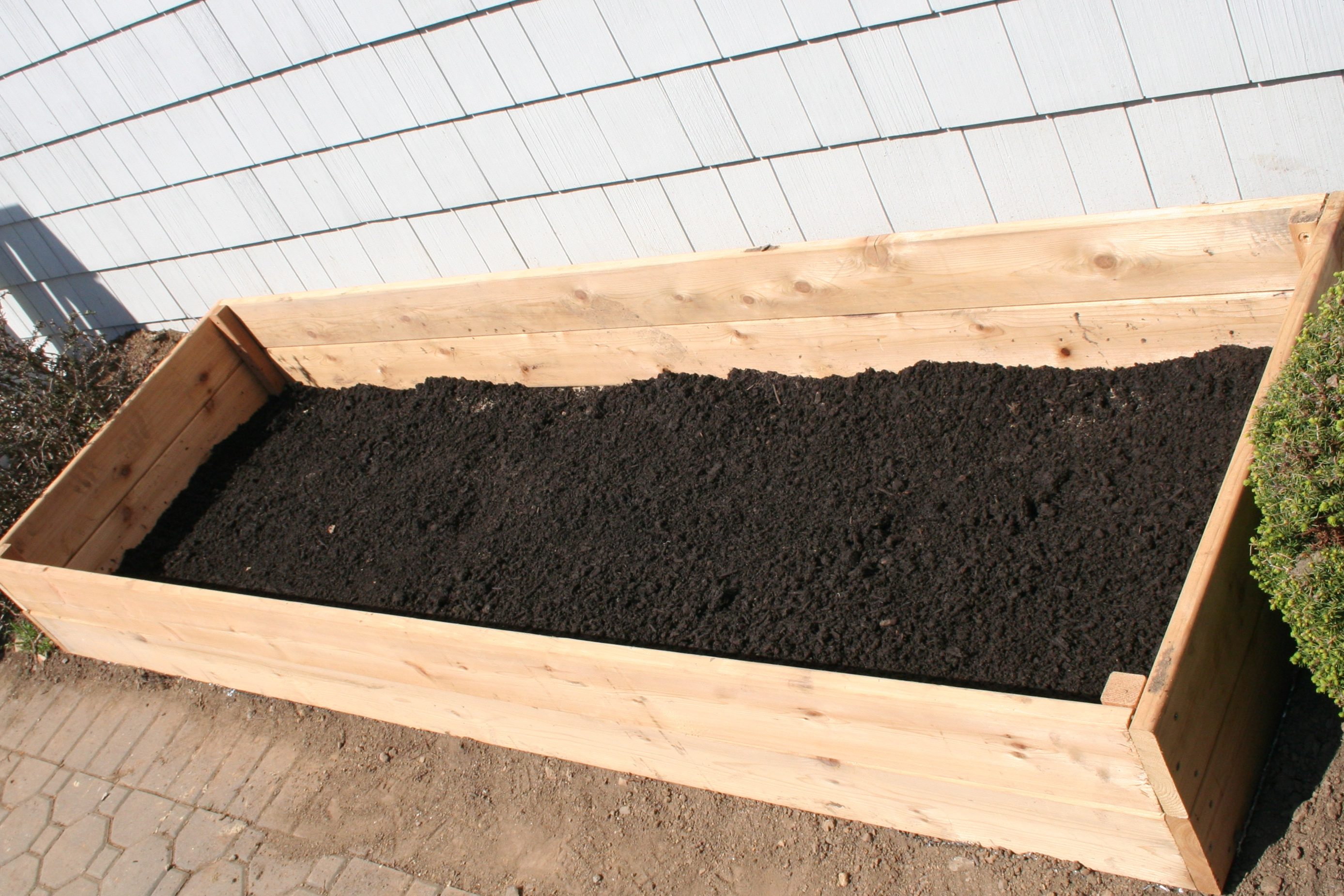 Adventures In Gardening Building The Raised Bed Paintchips Cupcakes